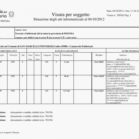 Banche dati pra catasto e visure immobiliari archivi - Visura catastale per nominativo ...