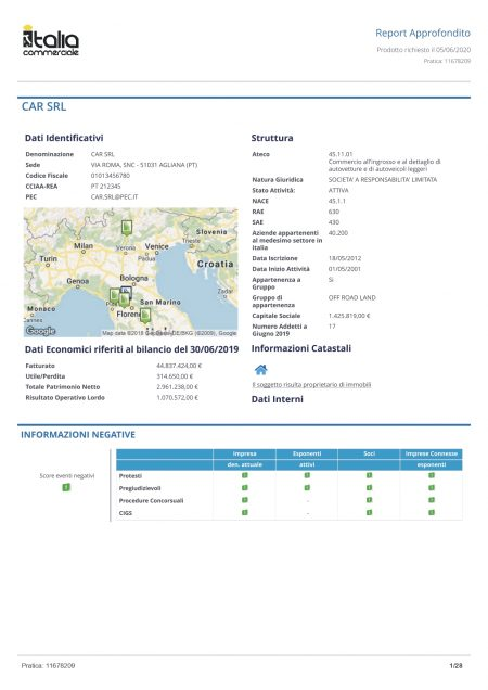 Report Impresa Approfondito