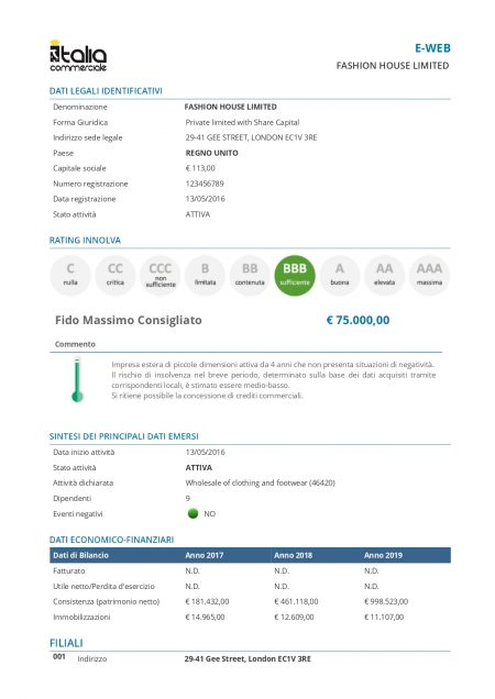 Dossier Estero E-WEB